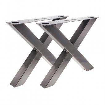 Tischgestell X 100/100 Stahl Klarlack