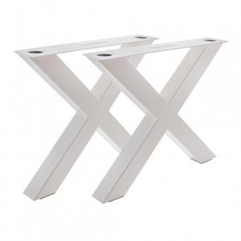 Tischgestell X 100/100 Weiß glänzend